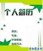 2012年个性创意简历封面(2)