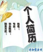 2012年毕业生精选简历封面