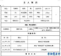 清雅脱俗的个人简历表格(2012新款)