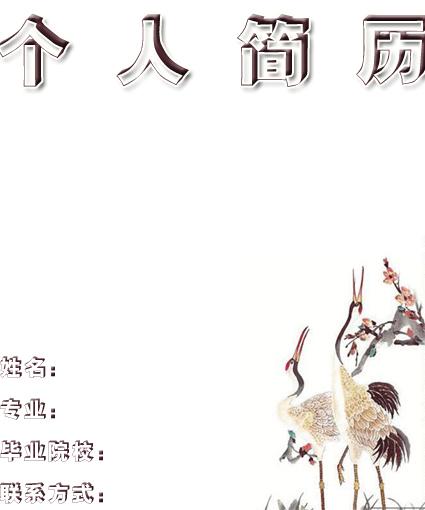 动漫设计专业简历封面图片