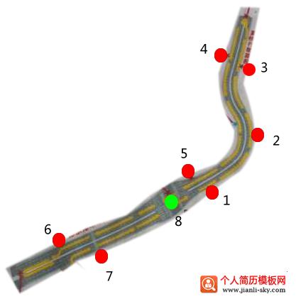 中山电子路考路线图